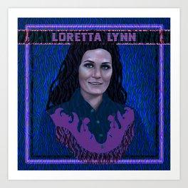 Loretta Lynn Art Print
