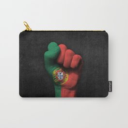 Portuguese Flag on a Raised Clenched Fist Carry-All Pouch
