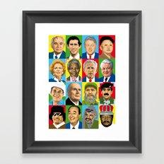 select your politic Framed Art Print