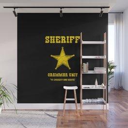 sheriff grammar unit Wall Mural