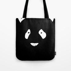 Black Panda Tote Bag