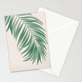 Palm Tropical Green Gardenia Stationery Cards