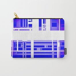 White on Blue Build Carry-All Pouch