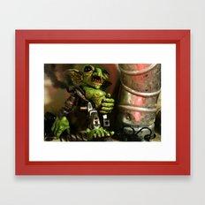 Goblin Junkyard Steamborg Framed Art Print