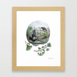 Ginkgo Birds Framed Art Print