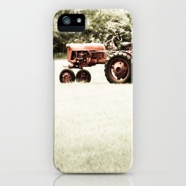 Vintage Red Tractor iPhone Case