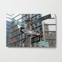 Street sign in New York City 2 Metal Print