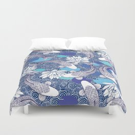 Blue Koi Ripples Duvet Cover