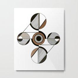 Eunoia - Gold & Silver 02 Metal Print