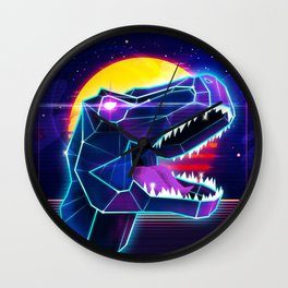 Electric Jurassic Rex - Dominate the Planet Wall Clock