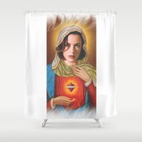 scully Shower Curtains featuring Dana Scully by Michelle Wenz