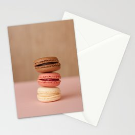 Pink Paris Macaroons Stationery Cards