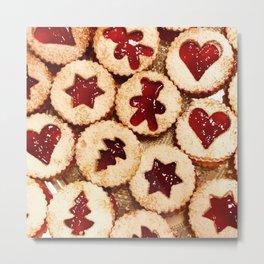 Christmas Cookies Pattern! Metal Print