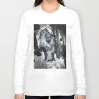 castle Long Sleeve T-shirts featuring Castle by Mowil
