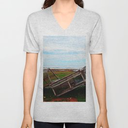 Lobster Traps and the Sea Unisex V-Neck