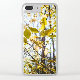 Golden Rays Clear iPhone Case