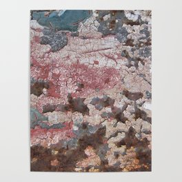 Cracking Paint and Rust Abstract Poster
