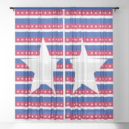 Red, White, & Blue Sheer Curtain