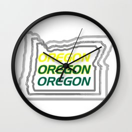 Oregon Three Ways Wall Clock