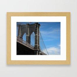 Somewhere Under the Brooklyn Bridge Framed Art Print