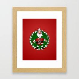 Sants Claus laughing: Ho Ho Ho Framed Art Print