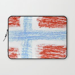 flag of norway 10 – Chalk version  snow,scandinavia,scandinavian,norwegian,oslo Laptop Sleeve