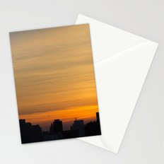 skyline brushstrokes Stationery Cards