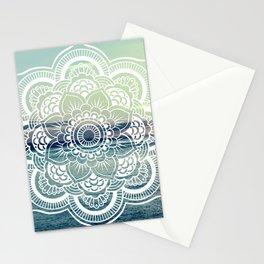Mandala : Teal Sea Sunset Stationery Cards