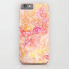 Summery Floral Watercolor Slim Case iPhone 6s