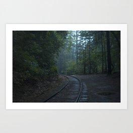 Abandoned Train Tracks Art Print