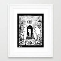 ouija Framed Art Prints featuring Ouija by Rachel Star Art