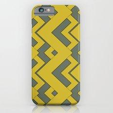 zig zag mustard Slim Case iPhone 6s
