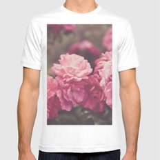 Vintage Florals MEDIUM Mens Fitted Tee White