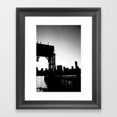 New York City Blackout Framed Art Print