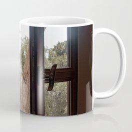 Garden Window View On Crete Island Greece Art Print Photo | Travel Photography  Coffee Mug
