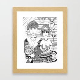 Mountain People Framed Art Print