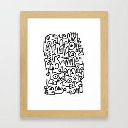 Doodski Framed Art Print