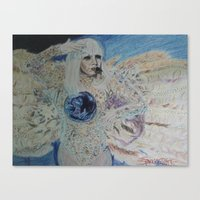 artrave Canvas Prints featuring artRAVE ANGEL by Simone Sprangers