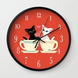 Pair cup Wall Clock