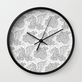 Pegasus Pattern Grey Wall Clock