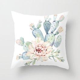 Perfect Cacti Rose Throw Pillow