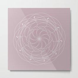 Ornament – Merry Go Round Flower Metal Print