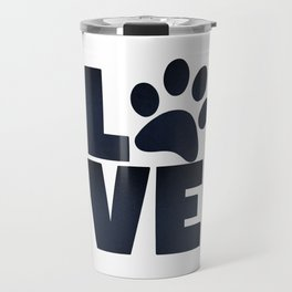 Love Pets Paw Cat Dog Cute Travel Mug