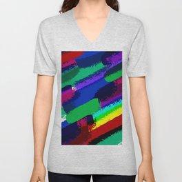Colorful ink Unisex V-Neck