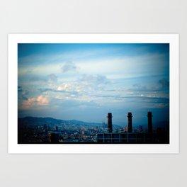 Barcelona city skyline Art Print