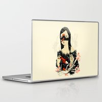 crane Laptop & iPad Skins featuring The Crane Wife by Picomodi