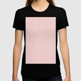 Mini Lush Blush Pink and White Gingham Check Plaid T-shirt