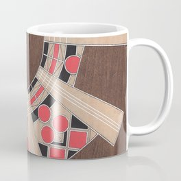 Radiating Wood Design with Hand Detailing Coffee Mug
