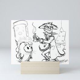 Mad Scientist Mini Art Print