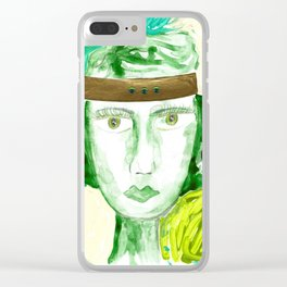 Green Girl Clear iPhone Case